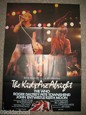 THE KIDS ARE ALRIGHT -Kinoplakat A1- THE WHO Roger Daltrey John Entwistle Keith