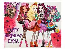 Ever After High Rice Paper Birthday Cake Topper!