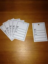 White -Style Size Price Clothes Stock LABELS TAGS Retail Market Shop Tickets 100