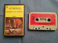 ACORDEON PASODOBLES VALSES BOLEROS CASSETTE TAPE SPANISH EDITION 1972