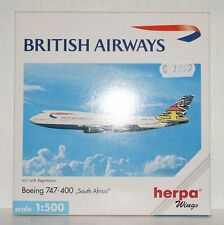 Herpa Wings British Airways Boeing 747-400 South Africa 1:500 511414