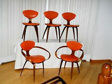 Norman Cherner Plycraft Pretzel Chairs (2) and Side (3) Bonus Dining Table Legs