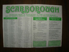 VINTAGE 1982 SCARBOROUGH TOURIST BROCHURE STREET PLAN   11