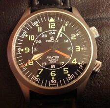 poljot mécanique russe 2612/1223371-40 Pilote aviator watch alarm russian