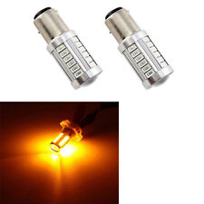 2X 1156 BAU15S PY21W LED Daytime Running Light Amber Yellow Light Bulbs 33SMD