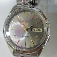 SEIKO 5 MEN'S WATCH AUTOMATIC ALL S/S SILVER ORIGINAL JAPAN SNKL93 NEW