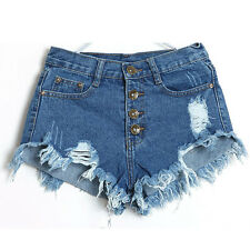 Fashion Women Vintage High Waist Jeans Hole Short Jeans Denim Shorts Hot Pants