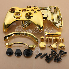 Gold Chrome Custom Wireless Controller Replacement Shell Case For Xbox 360 #4