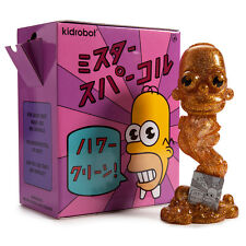"Kidrobot The Simpsons Homer MR. SPARKLE GOLD 7"" Medium Figure"