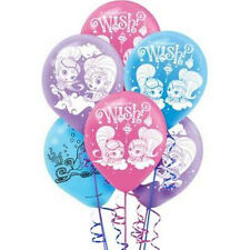 SHIMMER AND SHINE LATEX BALLOONS (6) ~ Birthday Party Supplies Helium Decoration