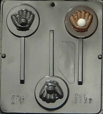 Baseball and Glove Lollipop Chocolate Candy Mold  3337 NEW