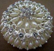 """DIAMANTE & PEARL"" DESIGN JEWELLERY/TRINKET BOX BEAUTIFUL CHRISTMAS GIFT BNIB"