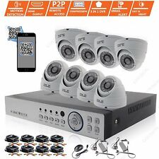 8CH HD 1080N 8X 1080P OUTDOOR CCTV Home Surveillance Security Cameras System Kit
