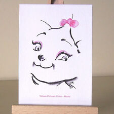 The Aristocats WDCC Marie tiny ACEO card pretty Art Deco style kitten drawing