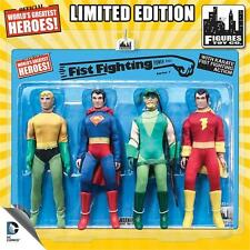 DC Comics Retro 8 Inch Action Figures Fist Fighting Action Series 1 Four-Pack