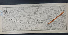 c1940's U.S. 211 New Market VA to Baltmore MD stip road map NAC oil gas card