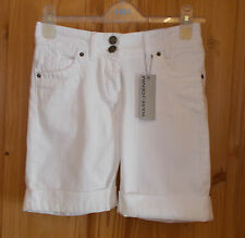 WAREHOUSE white denim cotton boyfriend bermuda shorts summer holiday BNWT 6 34