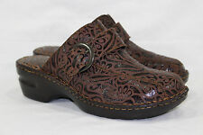 BORN CONCEPT KATINA CLOGS MULES SLIP ON WOMEN'S SIZE 10/42 BROWN LEATHER