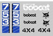 Bobcat 753 Skid Steer Decalcomania Sticker Set