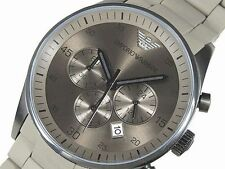 IMPORTED EMPORIO ARMANI AR5950 GRAY CHRONOGRAPH MENS WATCH GIFT 2YR WARRANTY