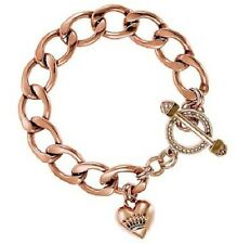 NWT Authentic Juicy Couture Starter Charm Link Pave Toggle Bracelet
