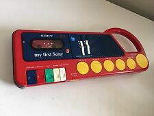 Sony TCM-4040 My First Sony Cassette Recorder Drum Pad Animal Sounds Boombox
