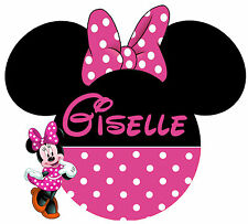 DISNEY MICKEY MINNIE MOUSE PERSONALIZED TSHIRT IRON ON CUSTOMIZED TRANSFER 036
