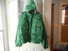 mens vintage hodgman lake stream waterproof fishing jacket--SZ-L-...............