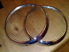 MORRIS FFK COMMERCIAL NEW CHROME HEADLAMP RIMS X 2 (FREE UK POST)