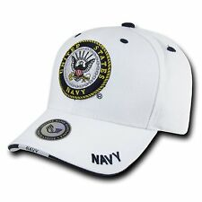 White United States US Navy USA Military Adjustable Baseball Cap Caps Hat Hats
