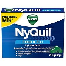 Vicks NyQuil Cold - Flu Nighttime Relief LiquiCaps 24 ea