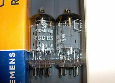 ★ 2x ECC83 12AX7 SIEMENS ≠ 1959/60 ● mC6 / Long Plates ● Matched Tubes NOS/NIB ★