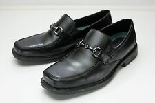 Clarks 9.5 Black Horse Bit Loafers Men's Dress Shoes