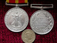 Replica Copy St. Andrew's Ambulance Association, Ambulance Corps Service Medal