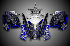 2010 - 2015 POLARIS PRO RMK - RUSH Decal Sticker Wrap Graphics Kit Hazard Blue