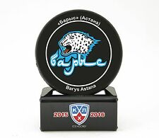 KHL Official Hockey Puck with holder.Barys Astana