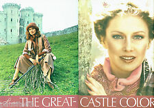 PUBLICITE ADVERTISING 036  1978  Estèe Lauder maquillage  Castle Colors ( 2p)
