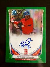 2014 Bowman Chrome MANUEL MARGOT AUTO /75 Green Refractor Rookie Card Padres RC