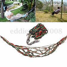 Outdoor Portable Travel Camping Hammock Garden Nylon Hang Mesh Sleeping Bed