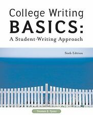 College Writing Basics: A Student-Writing Approach