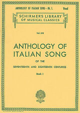 Italian Songs 17th 18th Centuries Play Handel Vivaldi Voice Piano Music Book 1
