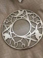 RARE Antique Art Nouveau Sterling Silver Glass Overlay Trivet Hot Plate Coaster