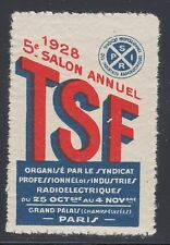 France MNH. 1928 Electric Radio Conference, Paris VF Cinderella - Poster Stamp