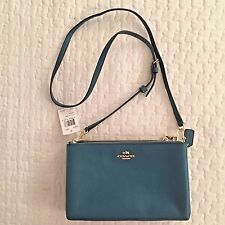 NEW $295 COACH F38273 LYLA CROSSBODY/SHOULDER BAG IN PEBBLE LEATHER ATLANTIC NWT