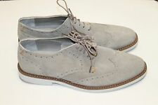 Classic Attitude 100% Leather Suede Brogue Oxford Men Light Brown Shoes Size 12