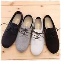 BN Women's Classic Lace Up Oxford Flats Boots Shoes Loafers Casual Comfy Stylish