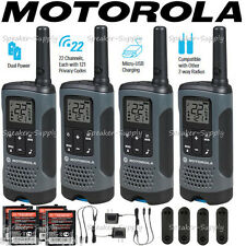 Motorola Talkabout T200 Walkie Talkie 4 Pack Set 20 Mile Two Way Radio Package