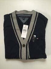 NWT MENS TOMMY HILFIGER PULLOVER CARDIGAN SWEATER Size XL Msrp:69.99