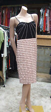 Joseph Ribkoff UK 14 BNWT Stunning Black & Blush Bandage Layer Sexy Dress US 12