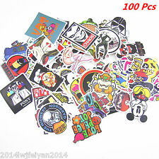 100pcs /lot Sticker Bomb Decal Vinyl Roll Car Skateboard Luggage Waterproof DIY